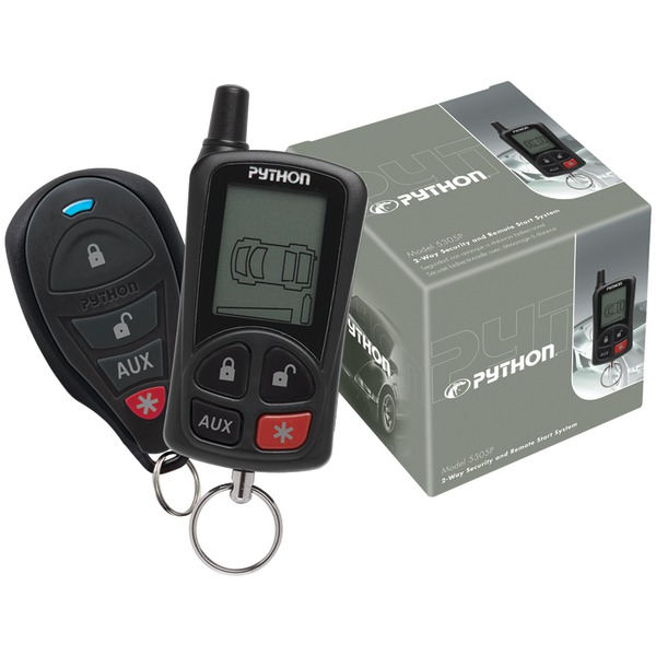 Python 5305P 5305P 2-Way LCD Security & Remote-Start System with .25-Mile Range & 2 Remotes