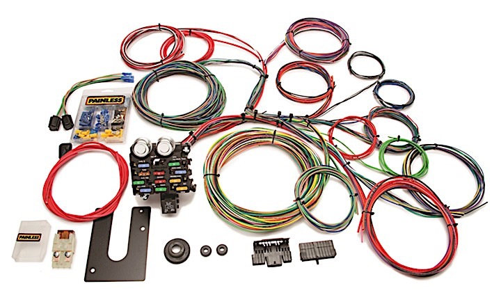 10102 Classic Customizable Chassis Harness - Key In Dash - 21 Circuits