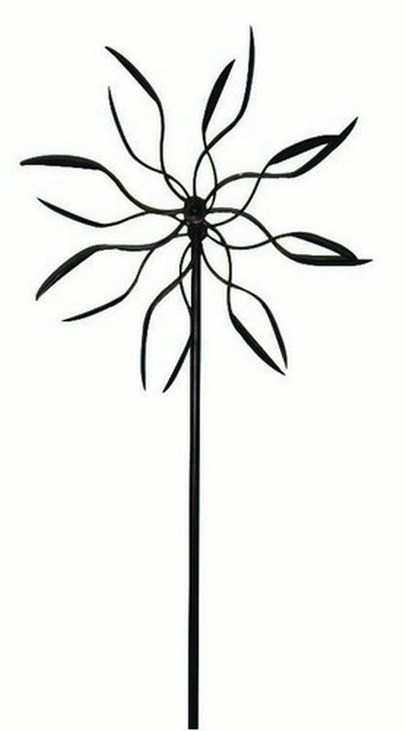 60 inch Dual Spinner Bronze Leaf Kinetic Art Windmill