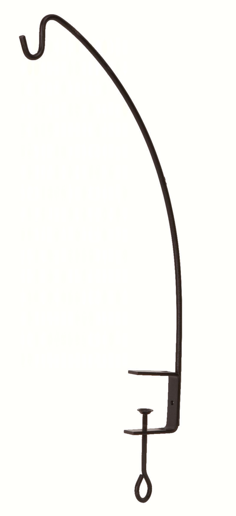 16 inch Clamp Style Angled Hook Black