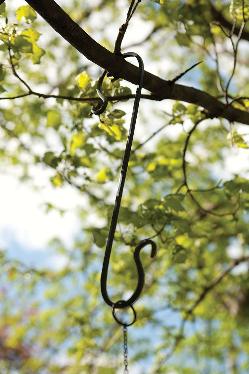 15 inch Forged Branch Hook Black