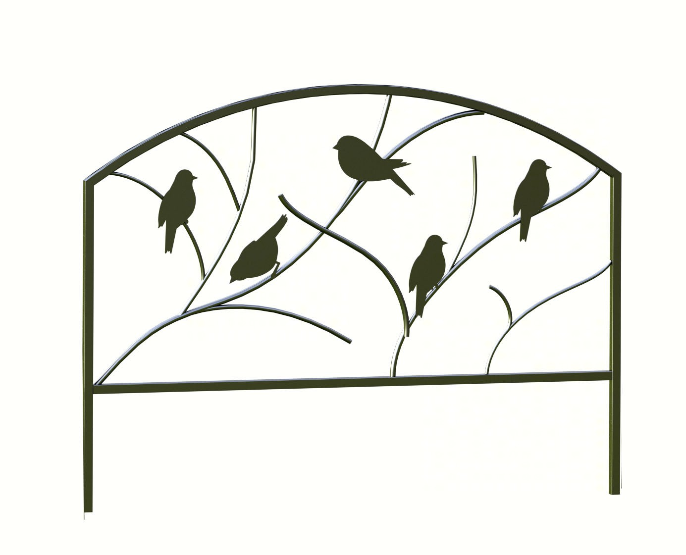 18 inch x 24 inch Perching Birds Garden Edge