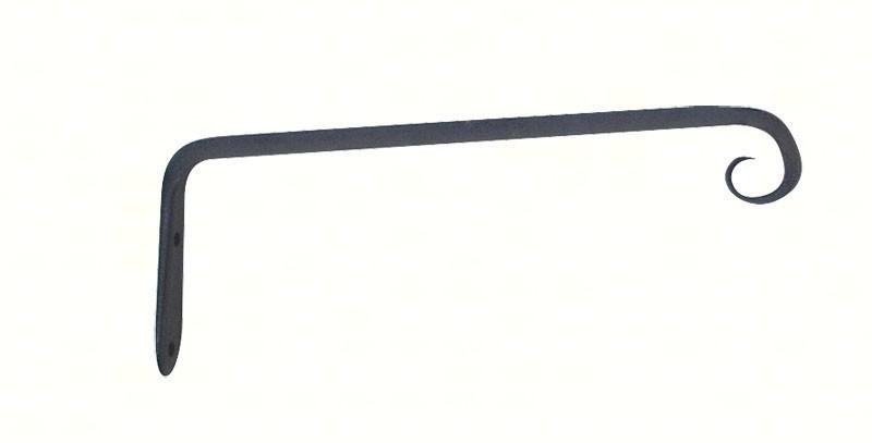 10 inch Forged Straight Hook Black