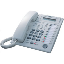 24 Button Speakerphone w/ LCD White