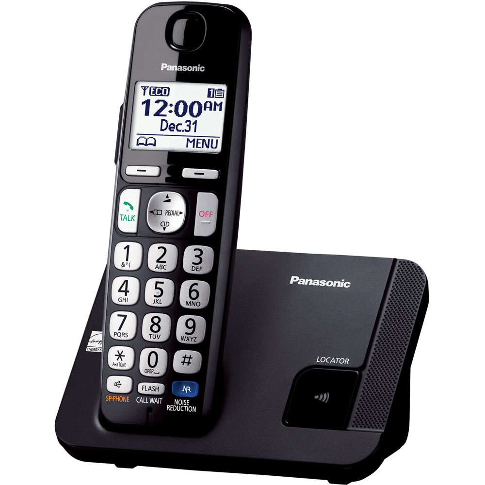 DECT 6.0- 1 handset- Big buttons- Black