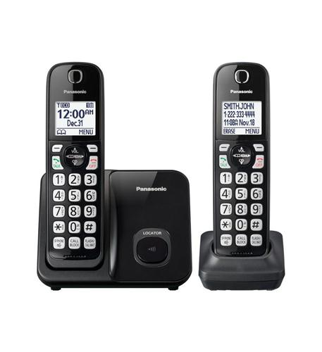 2HS Cordless Telephone in black