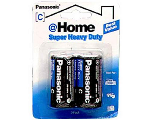 Panasonic C-2 Super Heavy Duty Battery 2-Pack