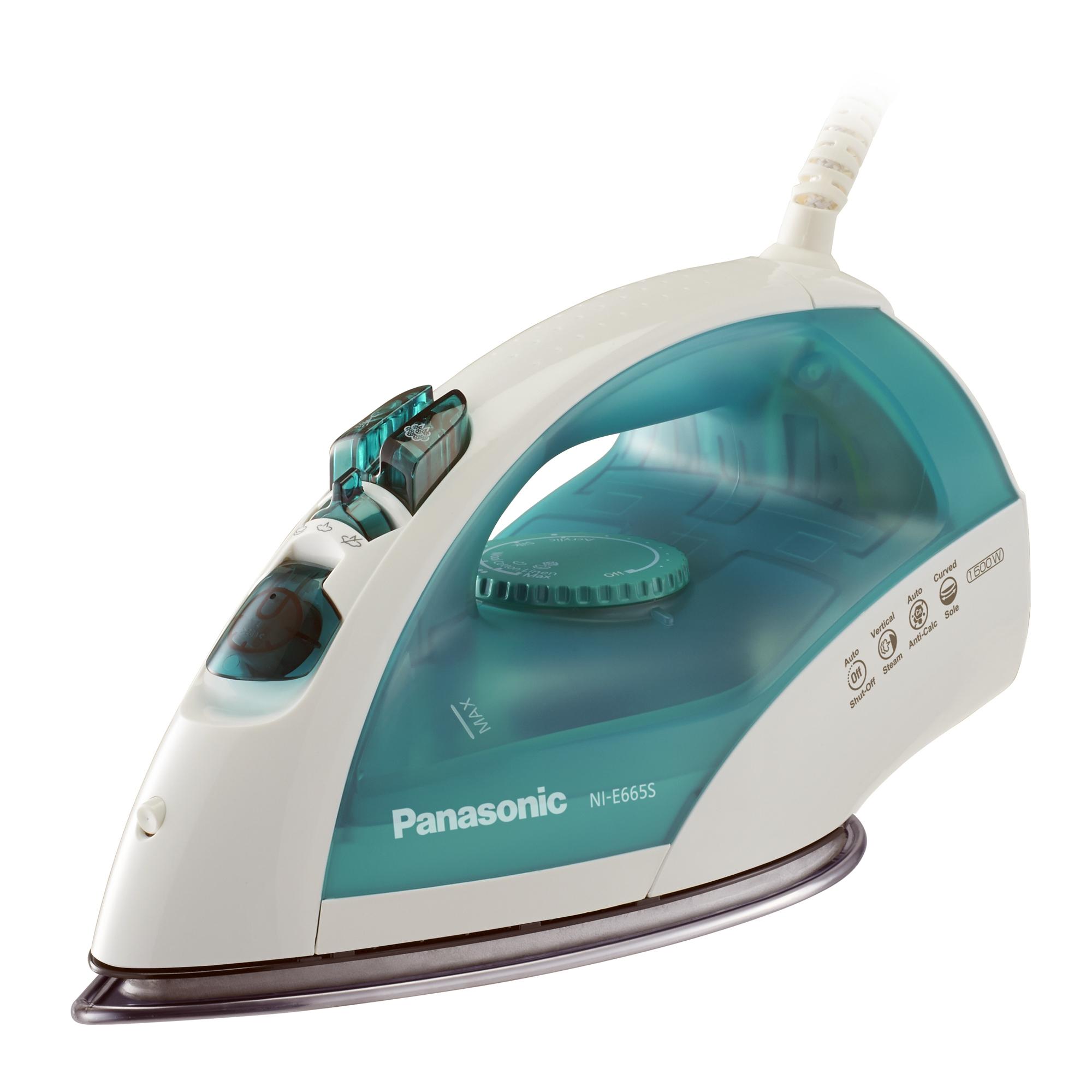 Panasonic 1700 Watt Steam and Dry Iron with U-Shape Titanium Curved Circulating Soleplate