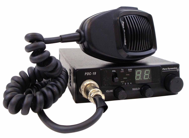 PARA DYNAMICS - 40 CHANNEL 7 WATT CB RADIO WITH ANL FILTER, S/RF METER, TX/RX INDICATOR