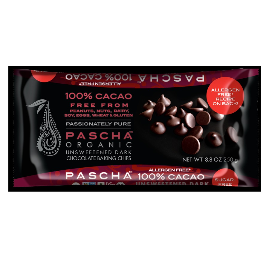 Pascha Choc Baking Chips, Dk Chocolate (6x8.8 OZ)