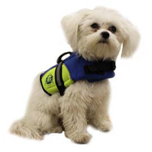 Neoprene Doggy Life Jacket XXS Blue/Yellow