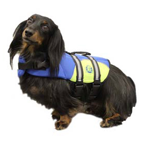 Neoprene Doggy Life Jacket XS Blue/Yellow