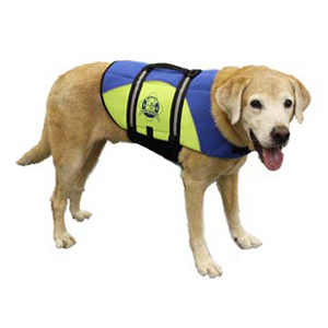 Neoprene Doggy Life Jacket L Blue/Yellow