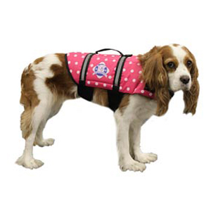 Doggy Life Jacket S Pink Polka Dot