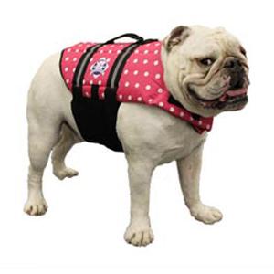 Doggy Life Jacket M Pink Polka Dot