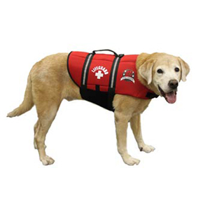 Neoprene Doggy Life Jacket L Red
