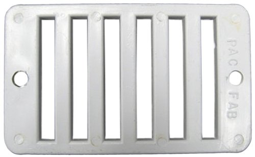 "Grate, Deck Drain, Rectangular, Pentair, 2"" x 4"", White"