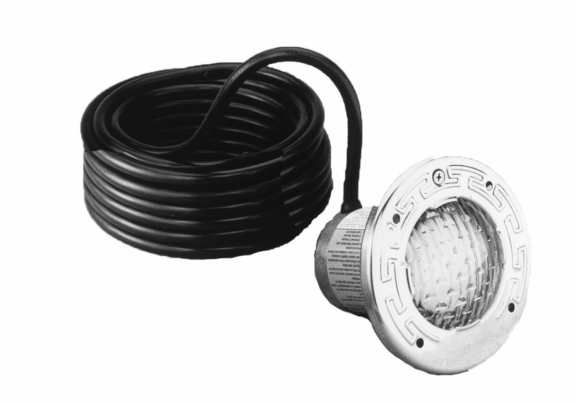 Light, Small, Pentair SpaBrite, 12V, 100W, 15' Cord, Stainless Face