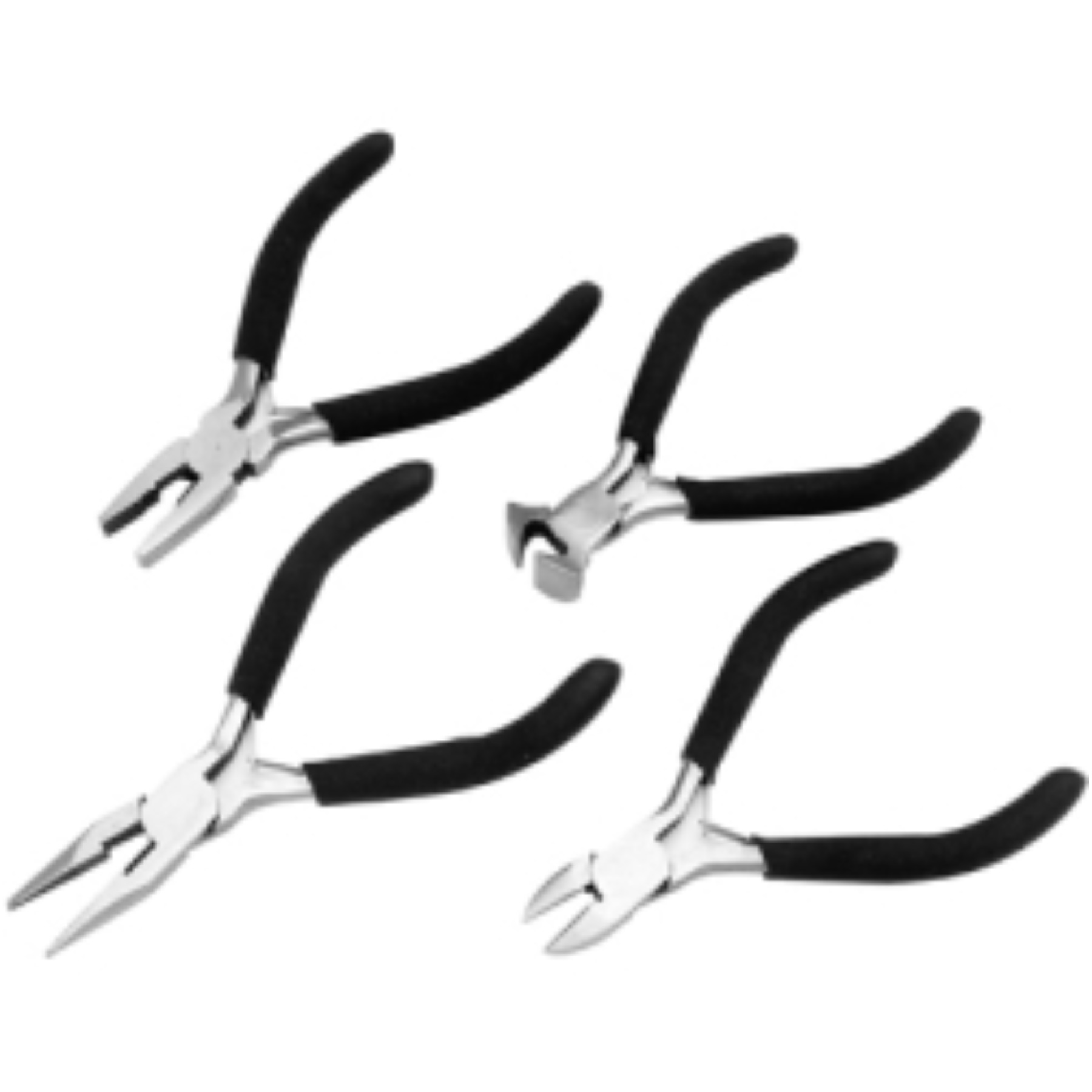 4 PC MINI PLIERS SET