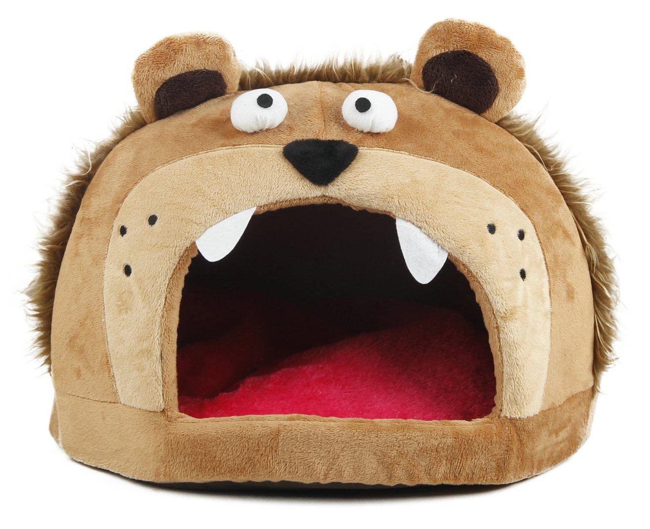 Roar Bear Snuggle Plush Polar Fleece Pet Bed