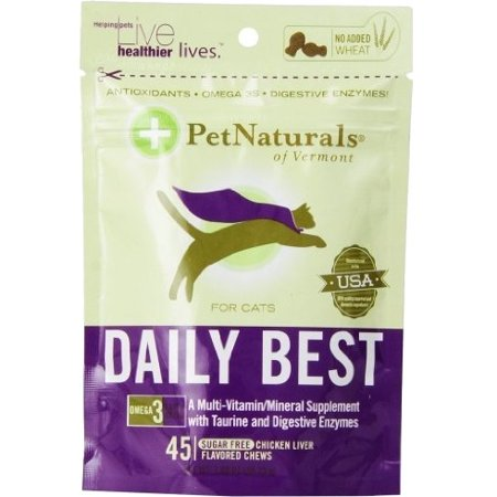 Pet Naturals of Vermont Daily Best Multi-Vitamin For Cats Chicken Liver 45 Soft Chews