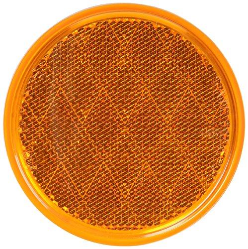 "V475A Amber 3-3/16"" Round Reflector"
