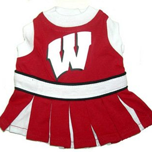 Wisconsin Cheerleader Dog Dress - Small