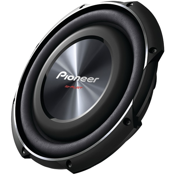 """PIONEER TS-SW2502S4 10"""" 1,200-Watt Shallow-Mount Subwoofer with Single 4ohm Voice Coil"""
