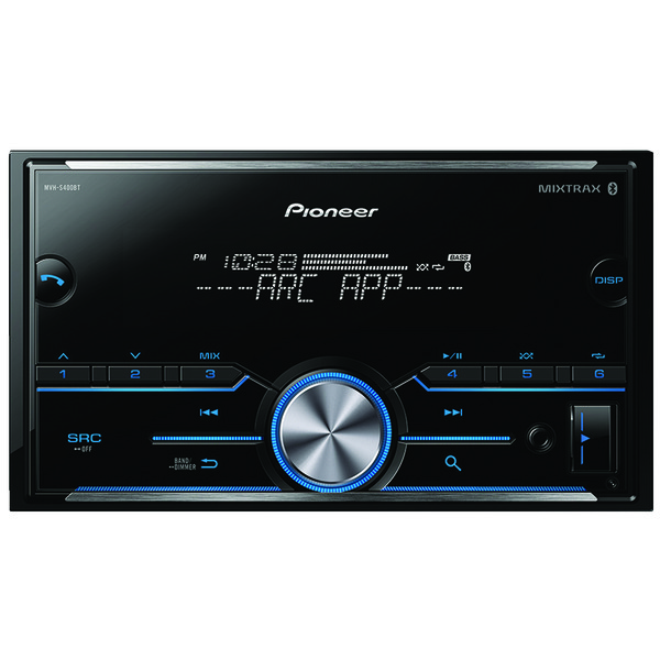 Pioneer MVH-S400BT Double-DIN In-Dash Digital Media Receiver with Bluetooth