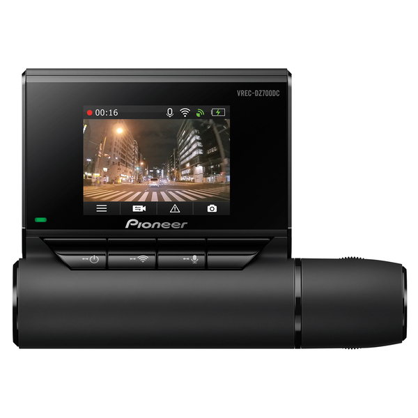 Pioneer VREC-DZ700DC VREC-DZ700DC 2-Channel Dual-Recording Dash Cam with 1080p Full HD, GPS, and Wi-Fi