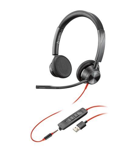 BLACKWIRE 3325 USB-A DUAL EAR