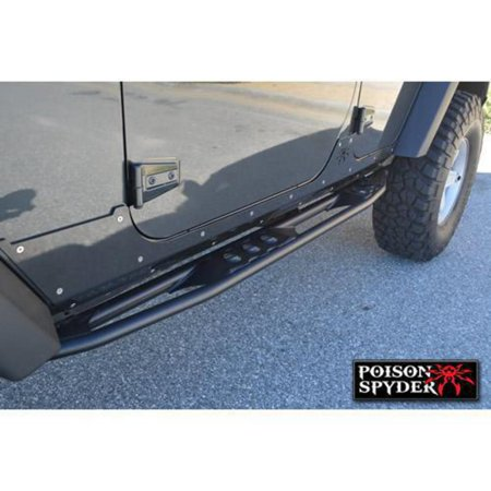Poison Spyder Customs 07-16 Jeep Wrangler JK 4-Door Ricochet Rockers Frame Mount 18-08-040