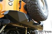 Poison Spyder Customs RockBrawler II Rear Bumper with Integrated Single-Action Tire Carrier 17-62-020P1