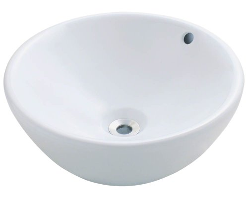 Polaris P0022VW White Porcelain Vessel Sink