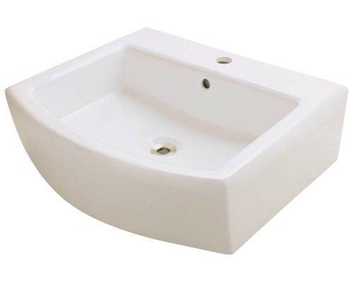 Polaris P003VB Bisque Porcelain Vessel Sink