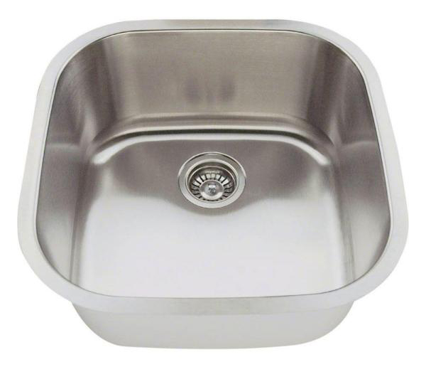 Polaris P0202-16 Gauge Stainless Steel Bar Sink