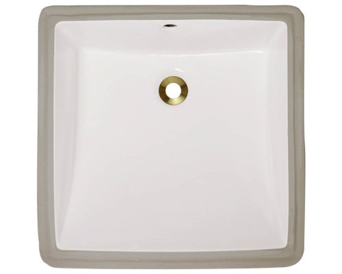 Polaris P0322UB Bisque Undermount Porcelain Bathroom sink