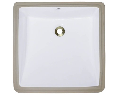 Polaris P0322UW White Undermount Porcelain Bathroom sink