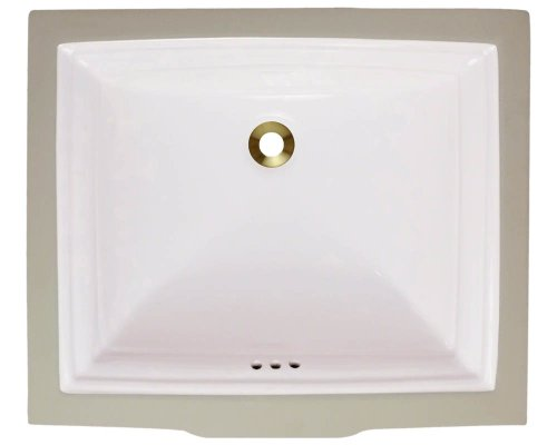 Polaris P0542UB Bisque Porcelain Vessel Sink