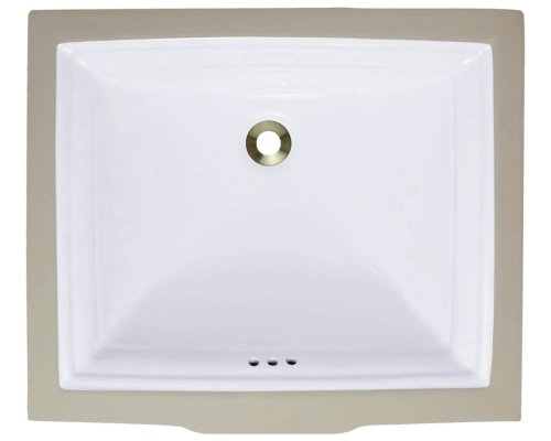 Polaris P0542UW White Porcelain Vessel Sink