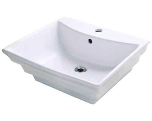 Polaris P061VW White Porcelain Vessel Sink