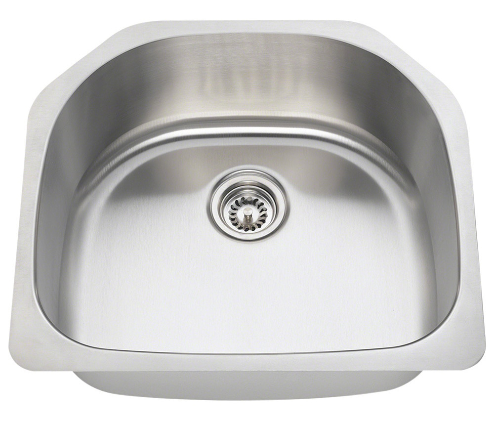 Polaris P1242 16-Gauge Single Bowl Stainless Steel Sink