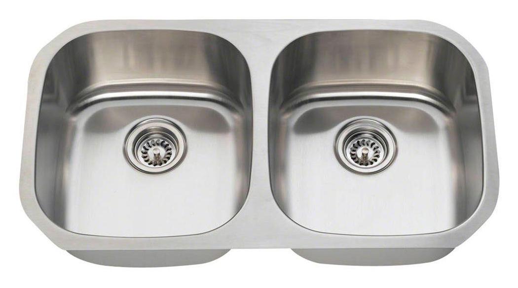Polaris P205 16-Gauge Double Bowl Stainless Steel Sink