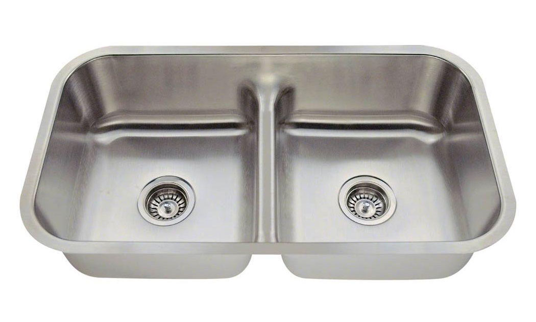 Polaris P215 16-Gauge Half-Divide Stainless Steel Sink