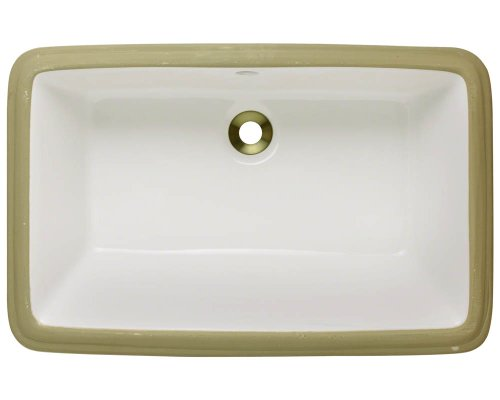Polaris P2181UB Bisque Undermount Porcelain Bathroom sink