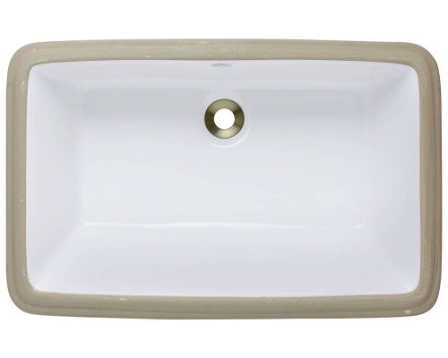 Polaris P2181UW White Undermount Porcelain Bathroom sink