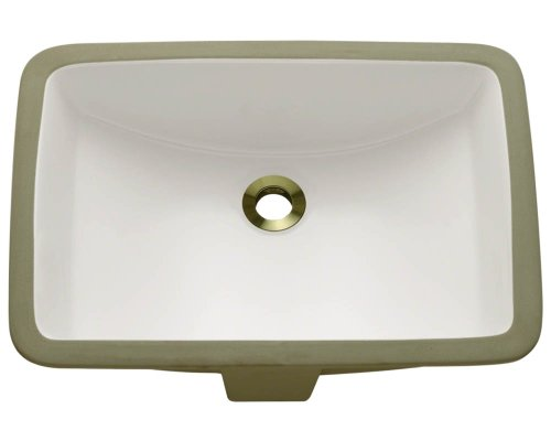 Polaris P3191UB Bisque Undermount Porcelain Bathroom sink