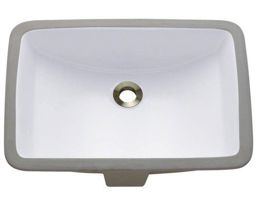 Polaris P3191UW White Undermount Porcelain Bathroom sink