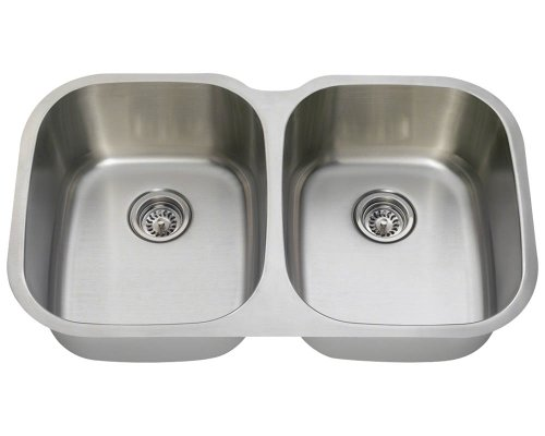 Polaris P405 16-Gauge Double Bowl Stainless Steel Sink