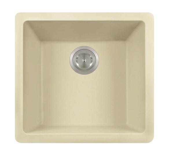 Polaris P508BE Beige Astragranite Single Bowl Kitchen Sink